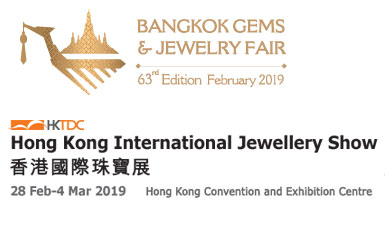 Bangkok Jewellery Fair 2019 in Bangkok and Hong Kong