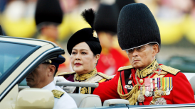King of Thailand with Queen Sirikit